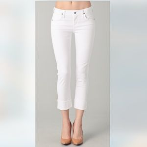 Citizens of Humanity | White Dani Cropped Straight